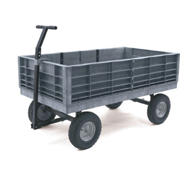 "Rubbermaid FG9T0600 BLA Convertible Wagon Platform - 3500-lb Capacity, 16"" Castors/Wheels, Black"
