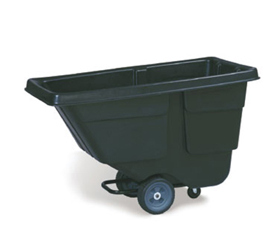 Rubbermaid FG9T1700 BLA 300 lb. Service Truck 1/2 cu. Yard Black Restaurant Supply