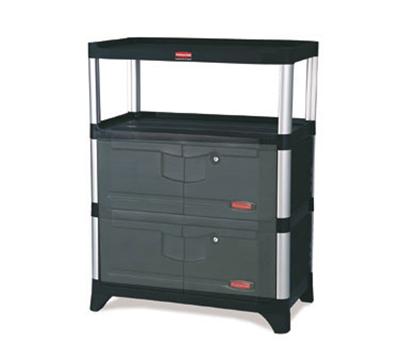 Rubbermaid FG9T4100 BLA Cabinet Kit - Blac
