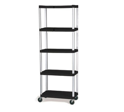 Rubbermaid FG9T4200 BLA 5-Shelf Xtra Shelf Truck - 800-lb Capacity, Black