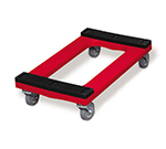 Rubbermaid FG9T5500 RED Padded Deck Dolly - 1000-lb Capacity, 4