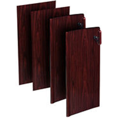 Rubbermaid FG9T9600 MAHG Deluxe Locking Cabinet Door Kit - Mahogany