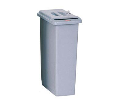 Rubbermaid FG9W1500LGRAY 23-gal Slim Jim Confidential Document Container - Key Loc
