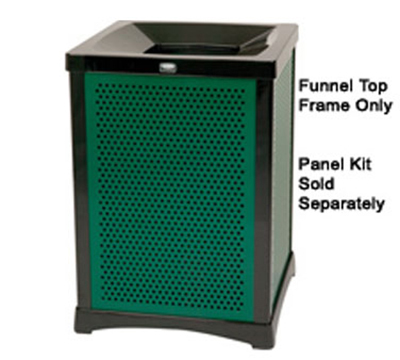 Rubbermaid FG9W5100DGRN 50-gal Infinity Perforated Panel Kit - Square, Dark Green
