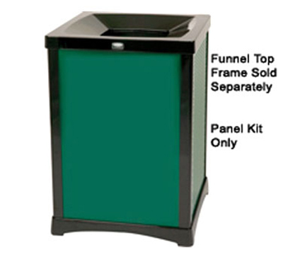 Rubbermaid FG9W5500DGRN 35-gal Infinity Solid Panel Kit
