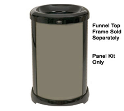 Rubbermaid FG9W5900DGRN 32-gal Infinity Solid Panel Kit - Round,