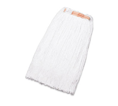 "Rubbermaid FGF41800 WH00 24-oz Premium Mop Head - 1"" Headband, 4-Ply Rayon, Whi"