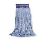 "Rubbermaid FGF55600 BL00 16-oz Premium Mop Head - 5"" Headband, 4-Ply Cotton/Rayon/Synthetic, Blue"