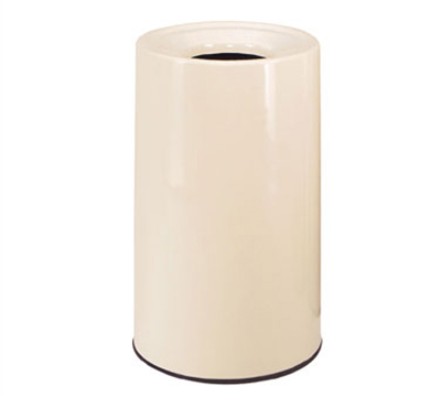 Rubbermaid FG1830LOPLHGN Waste Receptacle 21 Gal 30 in H One Piece Lift Off Top In/Out Hunter Green Restaurant Supply