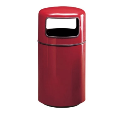 Rubbermaid FG1837PLSGN 20-gal Waste Receptacle - Covered Top, Fiberglas