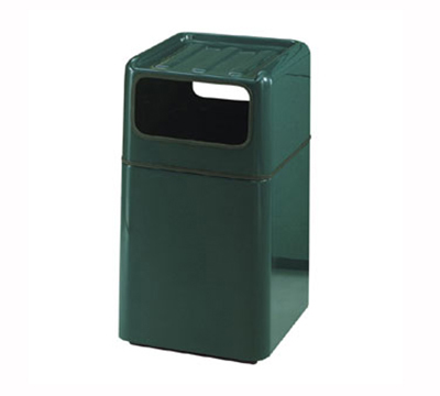 Rubbermaid FG2037SQTRGLTN Foodcourt Waste Receptacle 29 Gallon 20 in Square 36 in H In/Outdoor Tan Restaurant Supply