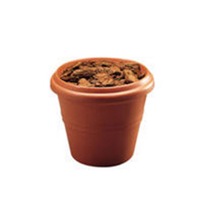 Rubbermaid FGPK2420CH Mediterranean Planter 20 Outside Diameter x 20 in H Fiberglass Charcoal Restaurant Supply