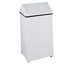 Rubbermaid FGT1940EPLWH 29-gal Wastemaster Receptacle - Hinged Top, Plastic Liner, White