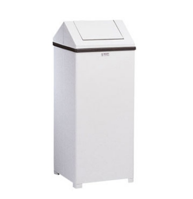 Rubbermaid FGT1424ERBWH 24-gal Wastemaster Receptacle - Hinged Top,