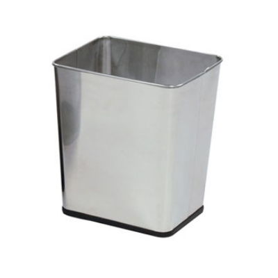 "Rubbermaid FGWB29RSS 13-1/2"" Steel Wastebasket - 7-1/4-gal Capacity, Stainles"