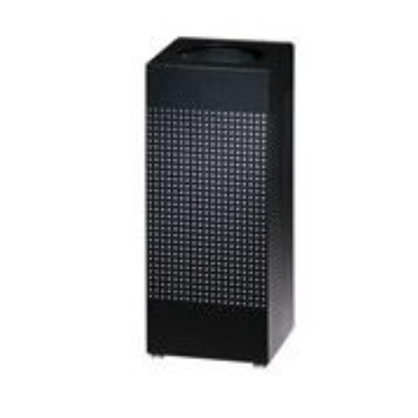 Rubbermaid FGSC18ERBTBK 29-gal Silhouette Square Indoor Receptacle - Plastic Liner, Textured Black