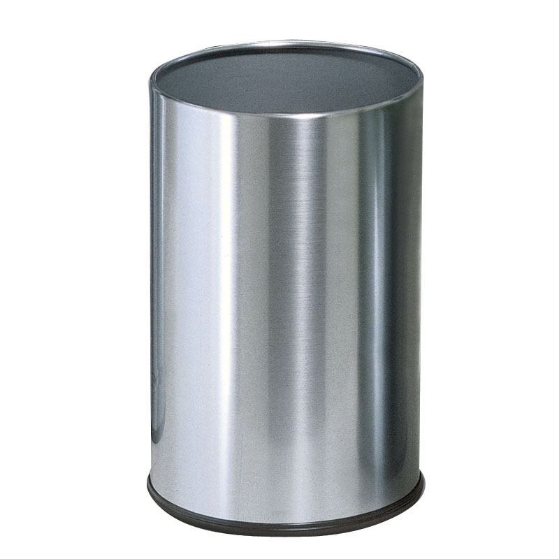 Rubbermaid FGUB1900SSS 5-gal European Executive Round Wastebasket - Stainless