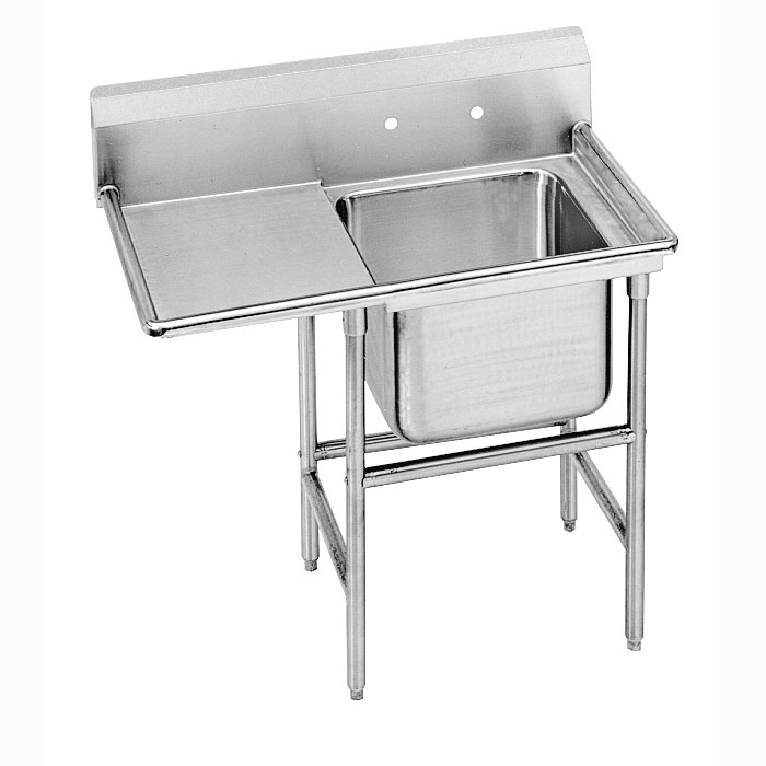 Advance Tabco 9-41-24-24L Sink (1) 20 x 16 x 14-in D 24-in Left Drainboard 14-Ga. Stainless Restaurant Supply