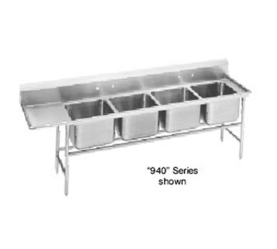 Advance Tabco 94-64-72-18R Sink (4) 24 x 18 x 14-in D 18-in Right Drainboard 14-Ga. Stainless Restaurant Supply