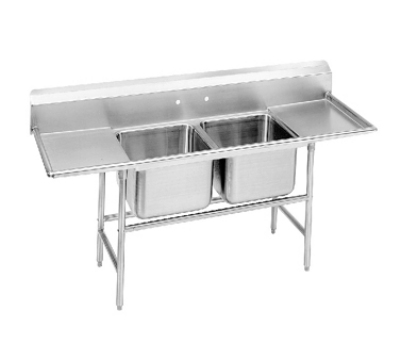 Advance Tabco 94-82-40-36RL Sink (2) 28 x 20 x 14-in D 36-in L & R Drainboard 14-Ga. Stainless Restaurant Supply
