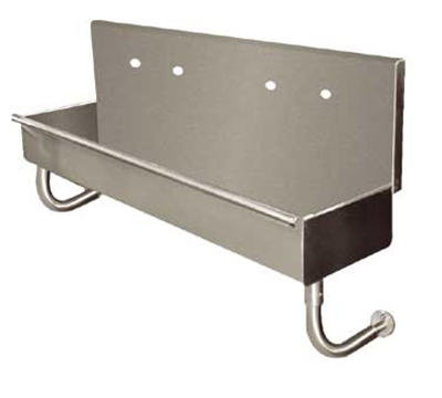 "Advance Tabco 19-18-72 Multiwash Wall-Mount Hand Sink - 72x14x8"" Bowl, 16-ga 304-Stainless"
