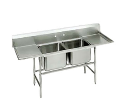 "Advance Tabco 94-62-36-24RL Sink - (2) 24x18x14"" Bowl, 24"" L-R Drainbo"