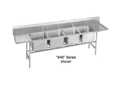 "Advance Tabco 94-64-72-36RL Sink - (4) 24x18x14"" Bo"