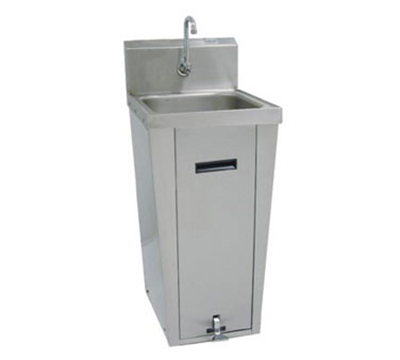 "Advance Tabco 7-PS-18 Hand Sink - Pedestal Mount Base, 16x14x6"" Bowl, 18-ga 304-Stainless"