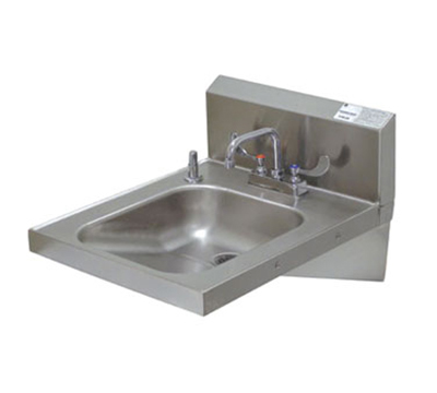 "Advance Tabco 7PS25 Physically Challenged Wall Hand Sink - 14x16x6.25"" Bowl, 18-ga 304-Stainless"