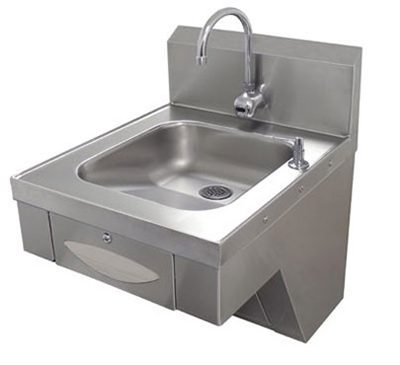 Advance Tabco 7-PS-41 Physically Challenged Wall Hand Sink - Electronic Faucet, Basket Drain