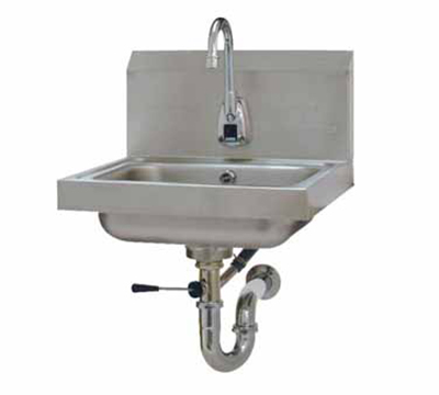 "Advance Tabco 7-PS-51 Wall Hand Sink - 14x10x5"" Bowl, Electronic Faucet, Lever Drain"