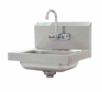 "Advance Tabco 7-PS-60 Wall Hand Sink - 14x10x5"" Bowl, Splash Mount Faucet, Basket Drain"