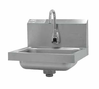 Advance Tabco 7-PS-61 Wall Hand Sink w/ 14x10x5-in Bowl & Electronic Faucet, Basket Drain