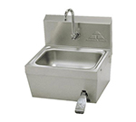 "Advance Tabco 7-PS-62 Wall Hand Sink - 14x10x5"" Bowl, Splash Mount Gooseneck, Knee Valve, Basket"