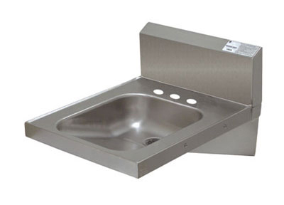 "Advance Tabco 7-PS-75 Physically Challenged Wall Hand Sink - 14x16x6.25"" Bowl, 3-Hole Punch, Basket Drain"