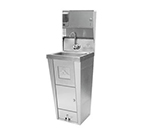"Advance Tabco 7-PS-99 Hand Sink - Pedestal Base, 14x10x5"" Bowl, Splash Mount Faucet, Trash Receptacle"