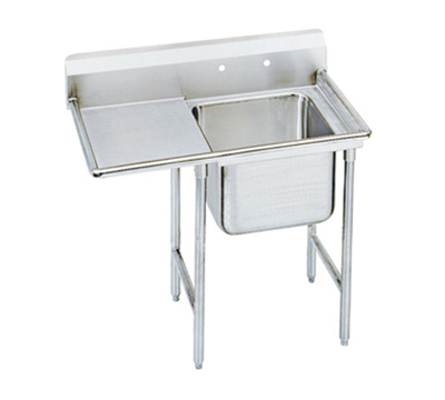 Advance Tabco T9-21-20-18L 44-in Sink w/ (1) 20x20x12-in Bowl & 18-in L Drainboard, Galvanized Frame