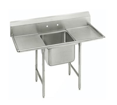 "Advance Tabco 9-1-24-18RL Sink - 20x16x12"" Bowl, 8"" Splash, 18"" L-R Drainboard, 18-ga 304-Stainless"