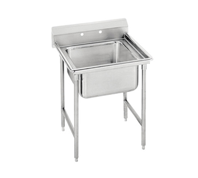 "Advance Tabco 9-81-20 Sink - 28x20x12"" Bowl, 8"" Splash, 18-ga 304-Stainless"