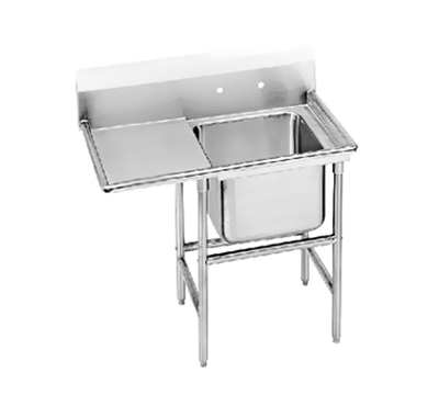 "Advance Tabco 94-1-24-18L Sink - 20x16x14"" Bowl, 18"" Left Drainboard, 14-ga 304-Stainless"