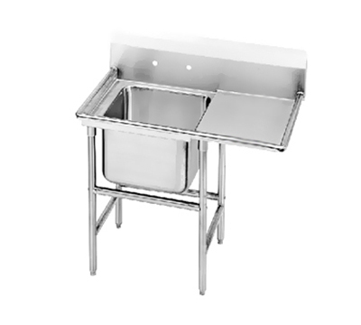 "Advance Tabco 94-61-18-24R Sink - 24x18x14"" Bowl, 24"" Right Drainboard, 14-ga 304-Stainless"