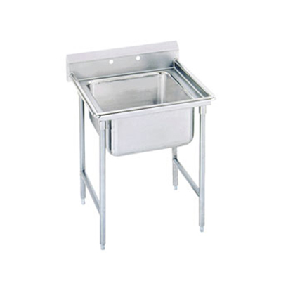 "Advance Tabco T9-1-24 25"" Sink - (1) 20x16x12"" Bowl, Galvanized Frame"