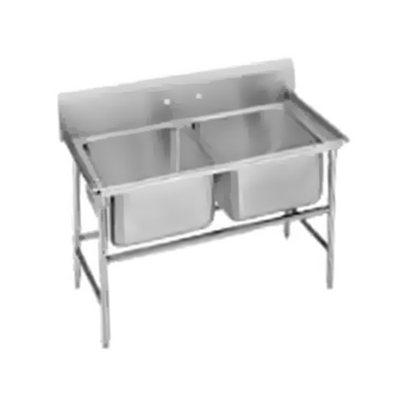 "Advance Tabco 94-2-36 Sink - (2) 20x16x14"" Bowl, 11"" Splash, 14-ga 304-Stainless"
