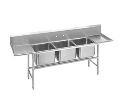 "Advance Tabco 94437224RL Sink - (3) 24x24x14"" Bowl, 24"" L-R Drainboard, 14-ga 304-Stainless"