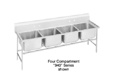 "Advance Tabco 94-64-72 Sink - (4) 24x18x14"" Bowl,11&"