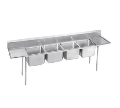 "Advance Tabco 9-44-96-24RL Sink - (4) 24x24x12"" Bowl, 24"" L-R Drainboard, 18-ga 304-Stainless"