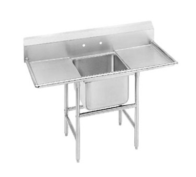 "Advance Tabco 94-41-24-24RL Sink - 24x24x14"" Bowl, 24"" L-R Drainboard, 14-ga 304-Stainless"