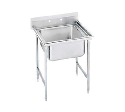 "Advance Tabco 94-41-24 Sink - 24x24x14"" Bowl, 11"" Splash, 14-ga 304-Stainless"