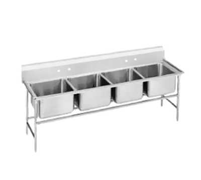 "Advance Tabco 94-24-80 Sink - (4) 20x20x14"" Bowl, 11"" Splash, 14-ga 304-Stainless"