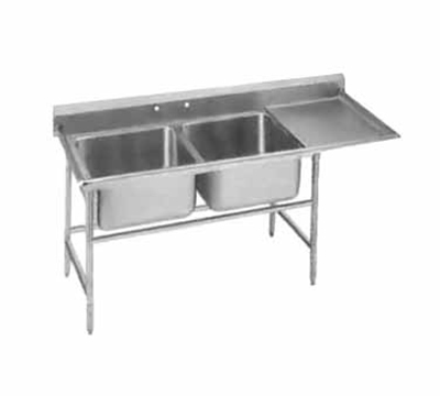 "Advance Tabco 94-81-20-24R Sink - 28x20x14"" Bowl, 24"" Right Drainboard, 14-ga 304-Stainless"